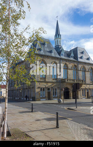 Town Hall  in the Market Place  Bishop Auckland, Co. Durham UK - Stock Photo