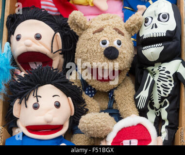 Cuddly toys and faces - Stock Photo
