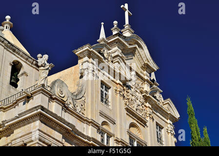 Portugal: Detail of the New Cathedral in Coimbra - Stock Photo