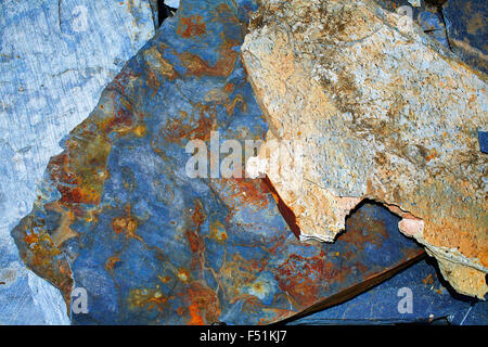 Way of Saint James slate stone in Galicia Spain - Stock Photo