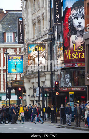 Shaftesbury Avenue, West End, Central London, England United Kingdom - Stock Photo