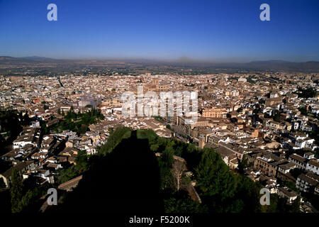 The city seen from the Alhambra, Granada, Spain - Stock Photo