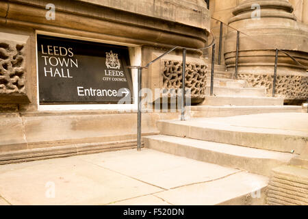 Designed by the local architect Cuthbert Brodrick, Leeds Town Hall Leeds, West Yorkshire, England - Stock Photo