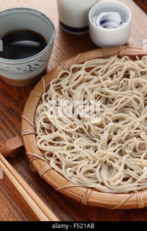 mori soba, cold buckwheat noodles, japanese food - Stock Photo