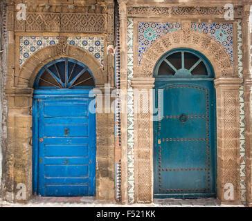 Ancient doors, Essaouira, Morocco - Stock Photo