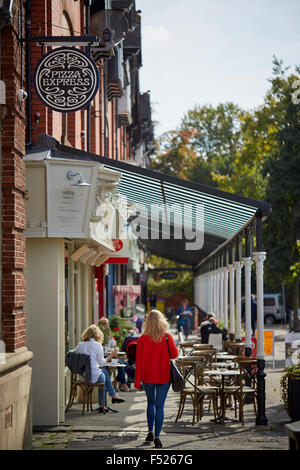 Cafe bar culture on West Didsbury Lapwing Lane   Restaurant dining food eating eating drinking  out date menu restaurateur - Stock Photo
