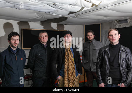 Kascarade Adam brankin, Martin Horton, Mathew Milnes, Carl Bower, Luke Milnes,  band members in the studio - Stock Photo