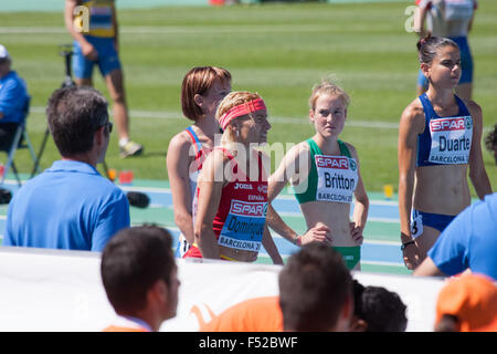 Competitors of 3000 meters Steeplechase Women of the 20th European Athletics Championships 2010, in Barcelona - Stock Photo