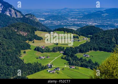 Germany, Bavaria, Upper Bavaria, Berchtesgadener Land (district), Berchtesgaden, Kneifelspitze, overlooking pilgrimage - Stock Photo