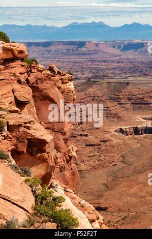 Grand View Point Overlook, Canyonlands NP, Utah, USA - Stock Photo