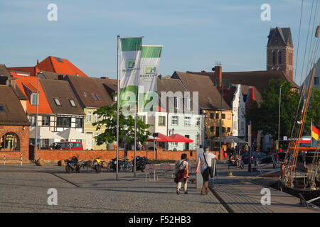 Germany, Mecklenburg-Western Pomerania, Wismar, historical houses on the 'Lohberg' in the old town, - Stock Photo