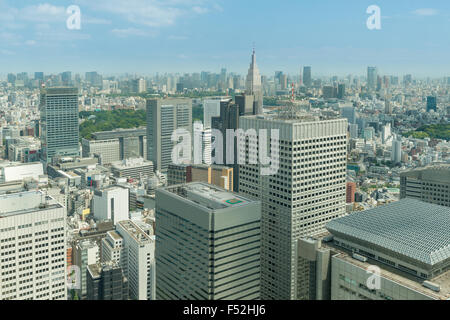 Cityscape of Tokyo skyscrapers in shinjuku financial district, Japan - Stock Photo