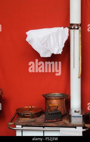Old Stove Heater - Stock Photo