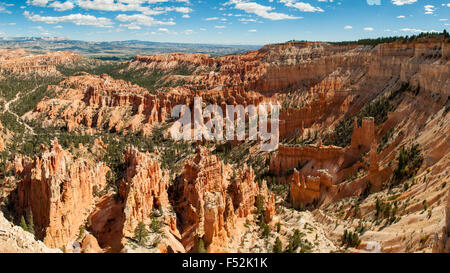 Upper Inspiration Point Panorama, Bryce Canyon, Utah, USA - Stock Photo