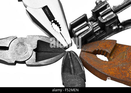 Adjustable Gas Wrench And Pliers - Stock Photo