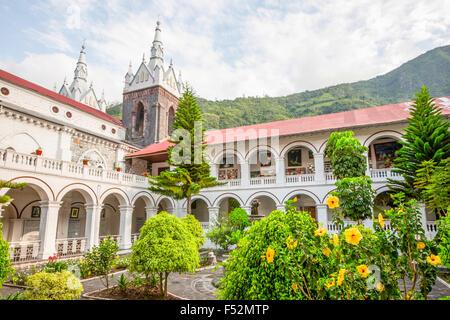 La Basilica De Nuestra Senora Del Rosario De Agua Santa Banos Ecuador - Stock Photo