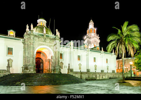 Cathedral On Main Square In Quito Ecuador - Stock Photo