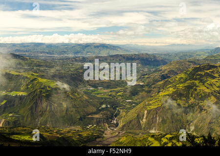 Patate Valley In Tungurahua Province Ecuador View From The Top Of Volcano - Stock Photo
