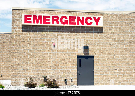 Emergency department entrance at a local hospital. - Stock Photo