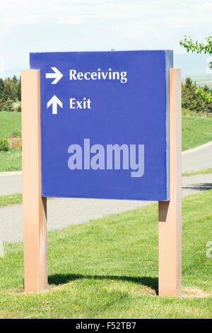 Supply receiving entrance at a local hospital. - Stock Photo