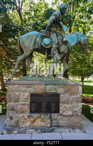 Statue of Kit Carson in Carson City, Nevada - Stock Photo