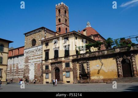 Italy, Tuscany, Lucca, San Martino Square - Stock Photo