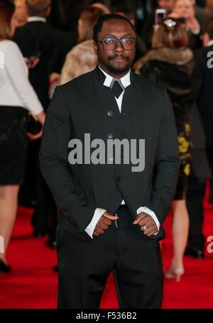 London, Britain. 26th Oct, 2015. US musician will.i.am attends the world premiere of the new James Bond film 'Spectre' - Stock Photo