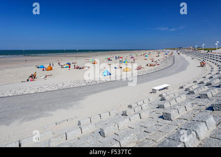 sea front, north beach on the Island Norderney, East Frisian Island, Lower Saxony, Germany, Europe, - Stock Photo