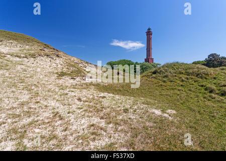 Lighthouse on the Island Norderney, East Frisian Island, Lower Saxony, Germany, Europe - Stock Photo