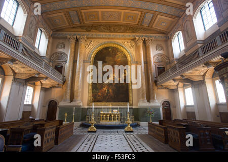St. Peter St. Paul chapel Old Royal Naval College - Stock Photo