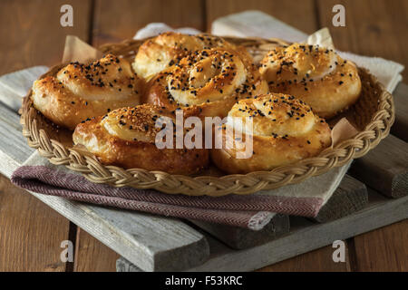 Bureks. Balkan baked filo pastry snack. - Stock Photo