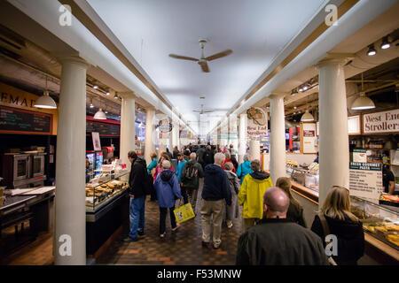 inside Faneuil hall boston - Stock Photo