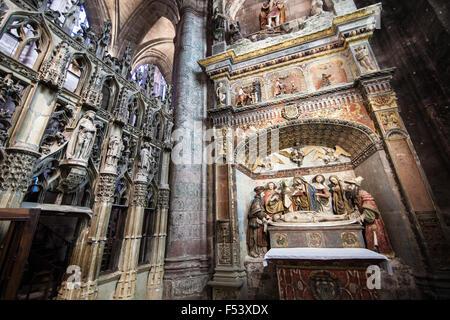 Mise au Tombeau (Entombment of Jesus) 1523 : Chapelle du Saint Sulpice,Rodez Cathedral - Stock Photo