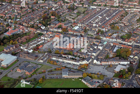 aerial view of Guisborough North Yorkshire market town, Cleveland, UK - Stock Photo