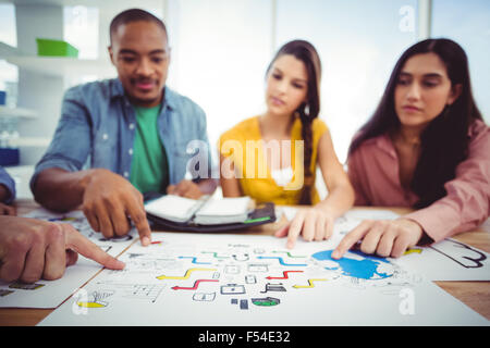 Young creative team having a meeting - Stock Photo