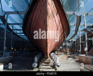 The hull of the SS Great Britain, Bristol, England - Stock Photo