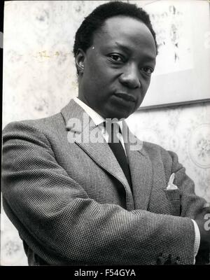 1968 - Ex-King works to help the lonely The Kabaka of Buganda, King Freddie deposed two years ago in a coup, now - Stock Photo