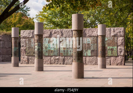 WASHINGTON, DC, USA - Franklin Roosevelt Memorial - Stock Photo
