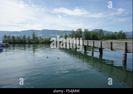 Holzbrücke Rapperswil-Hurden - Stock Photo