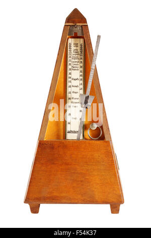 metronome isolated on white background in approaching - Stock Photo