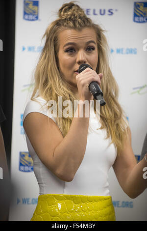 Calgary, AB, Canada. 27th Oct, 2015. Grammy Award Winning Country Group The Band Perry hold a press conferences - Stock Photo