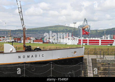 The SS Nomadic at Belfast's Titanic Quarter - Stock Photo