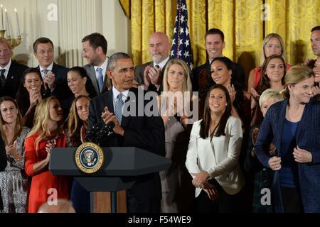 Washington, District of Columbia, USA. 27th Oct, 2015. 10/24/15- The White House- Washington DC.President Barack - Stock Photo