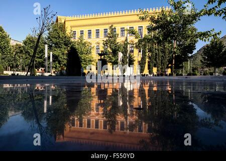 Building of the United World College in Mostar. - Stock Photo