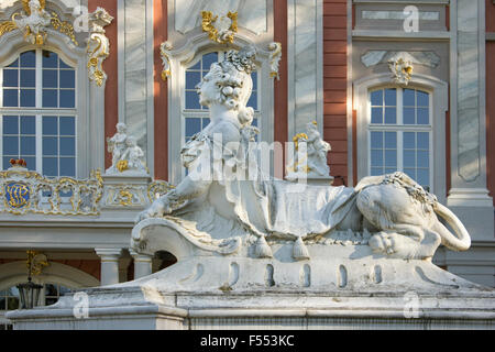 Detail of baroque Electoral Palace.  Trier, Germany. - Stock Photo