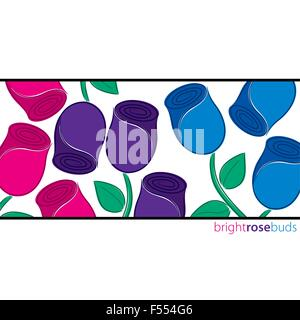All occasion rose card in vector format. - Stock Photo