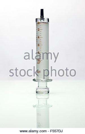 old style antique glass syringe - Stock Photo