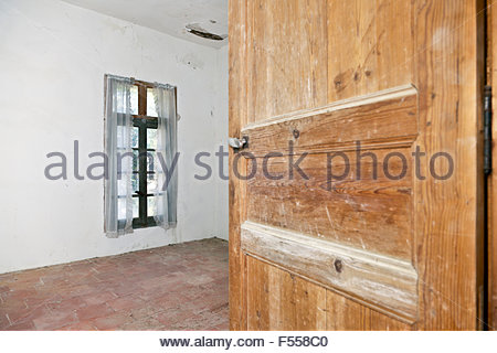 empty room in old house - Stock Photo