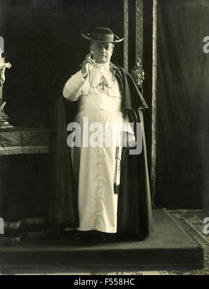 Portrait of Pope Pius XI, Achille Ambrogio Damiano Ratti - Stock Photo
