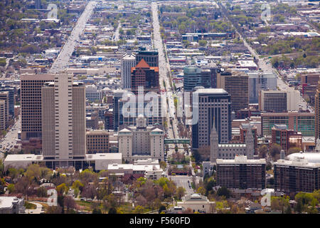 View from top of Utah Capitol building, USA - Stock Photo